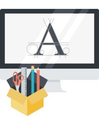 grafico specializzato per il tuo logo del tuo sito we